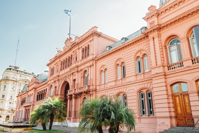 The Casa Rosada in Buenos Aires, Argentina.  Photo credit: Thinkstock