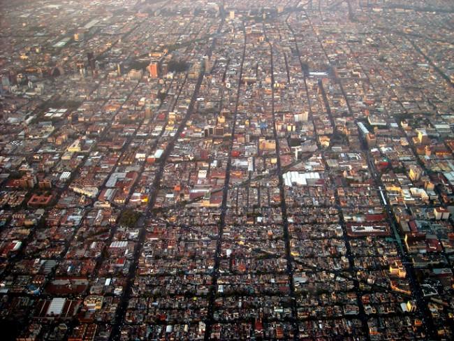 aerial Mexico City