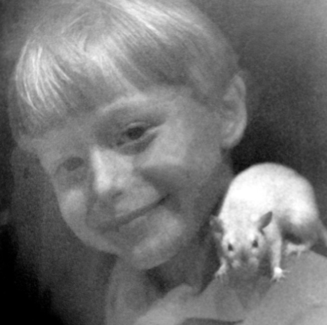 Young Nathan Runkle with his animal friend, Caesar the rat.  Photo credit: Nathan Runkle/Mercy for Animals