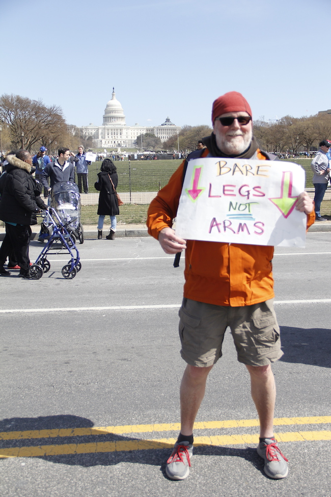 Bare legs not arms - D.C.