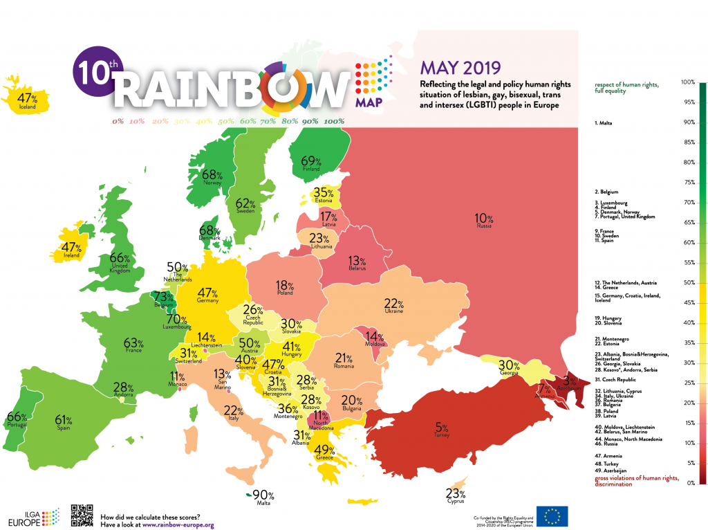 Rainbow Map Equality Index