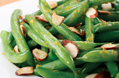 Orange Zest Green Beans with Almonds