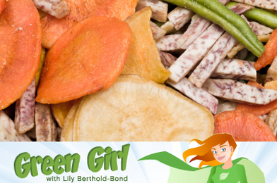 Green Girl Sneaks In Healthy Snacks