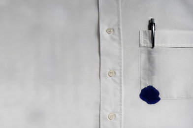 Ink stain white dress shirt