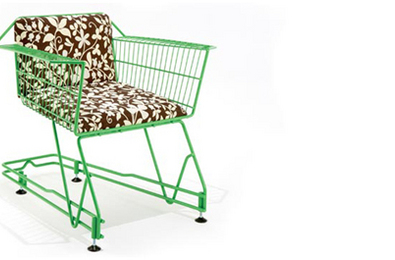 Recycled Shopping Cart Chair