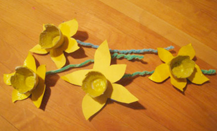 DIY: Egg Carton Daffodils Crafted with Spring Poetry