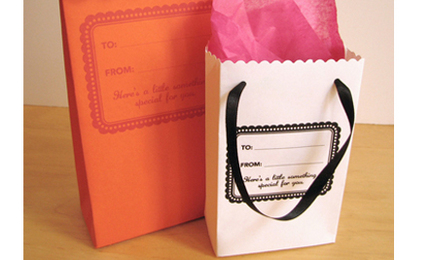 DIY: Gift Bags Made from Recycled Envelopes