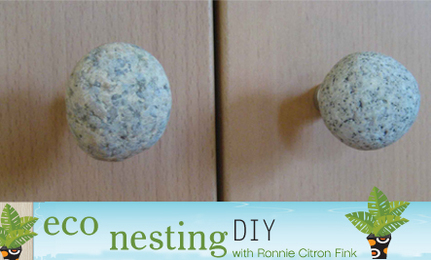 DIY Natural Stone Knobs