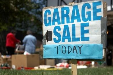 Garage Sale Warning