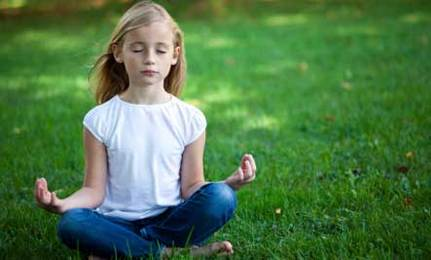 Enjoy Scottish Children Doing Yoga and Chanting at School