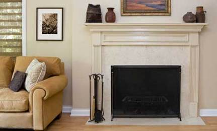 K is for Keep Your Fireplace Damper Closed