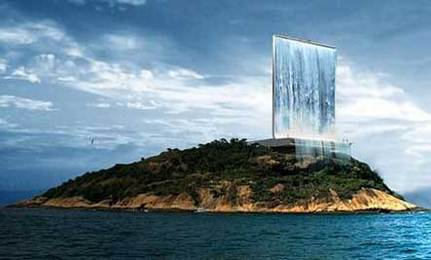 Giant Solar Waterfall Proposed for 2016 Olympics Site