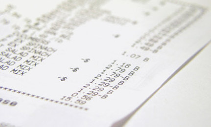 BPA-Laden Receipts in Popular Stores