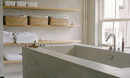 Bathroom Storage: Open Shelving