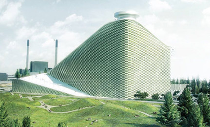 Waste Plant Doubles as a Ski Slope with Lasers