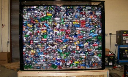 'The Cage' Eco-Exhibit Shows Wasteful Nature Of Bottled Beverages