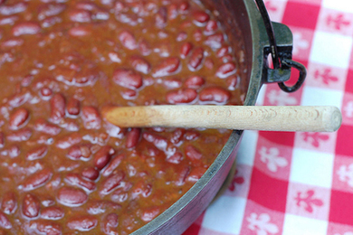 Smoky-Spicy-Sweet Vegetarian Barbecue Beans