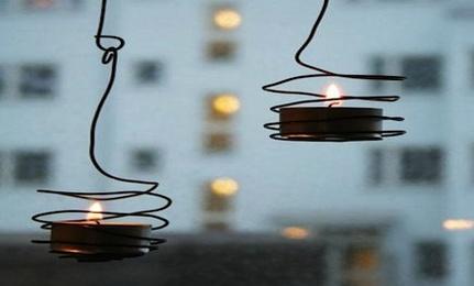 DIY: Wired Tea Light Holders