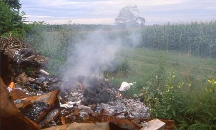 Toxic Trash Burning in War Zones