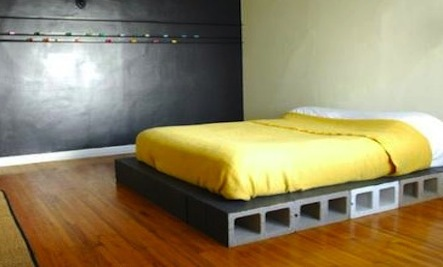 Unconventional Uses: Concrete Blocks as a Bed Base