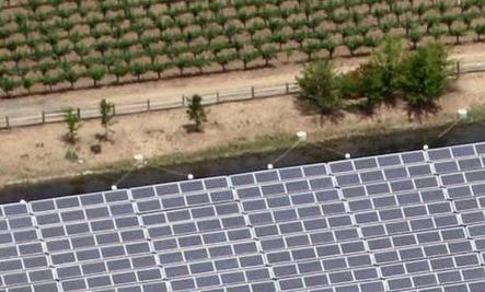 Floating Solar Panels at Winery