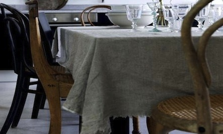 DIY: Unhemmed Tablecloth
