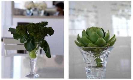 Vegetables and Herbs as Decor