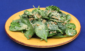 Italian Spinach Salad and Crispy Eggplant