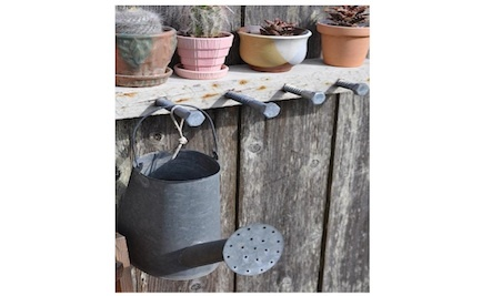 DIY Outdoor Hanging Rack & Shelf