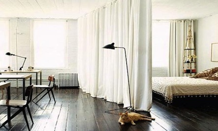 Create an Instant Alcove-Style Bedroom with Curtains