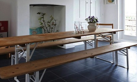 How To Use A Classic Outdoor Table Inside The Home