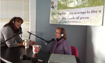 Green Divas on the Air Talking Low-Stress Green Living