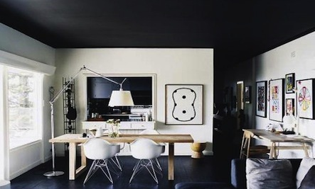 Noir Above: 5 Intriguing Black Ceilings