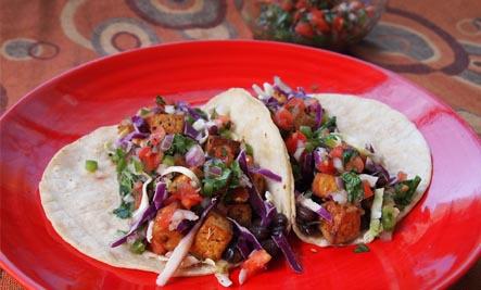 Mexi-Tofu Tacos and Salsa Fresca