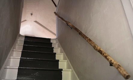 A DIY Handrail from a Peeled Tree Branch