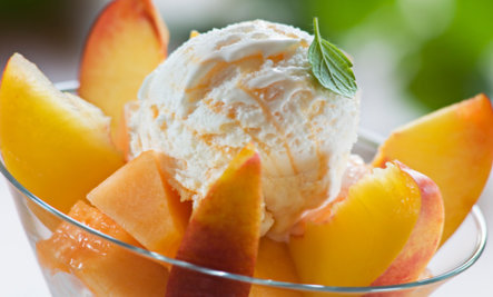 Dairy-Free Peach Pineapple Ice Cream