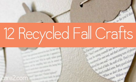 12 Fall Crafts from Your Recycle Bin