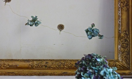 How to Make Dried Hydrangea Garlands