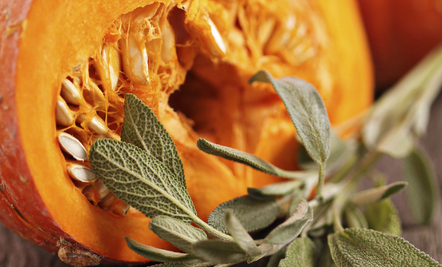 Roasted Pumpkin with Sage and Shallots [Recipe)