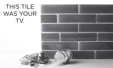 Recycling At Its Best: This Tile Used to Be Your TV