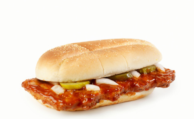 Shocking 47 Ingredients in a McRib