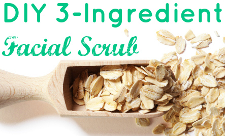 3-Ingredient Homemade Facial Scrub Recipe