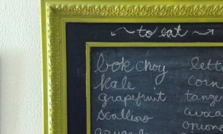 Weekend DIY Project: Kitchen Chalkboard for Less Than $25