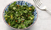 Lemony Kale Salad With Avocado Coconut Dressing