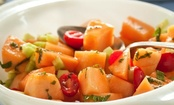 Cantaloupe and Tomato Salad