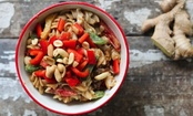 Healthy Asian Sesame Pasta Salad