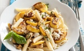 Pasta with Summer Squash and Feta