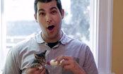 Giant Men Hold Kittens for the First Time (Video)