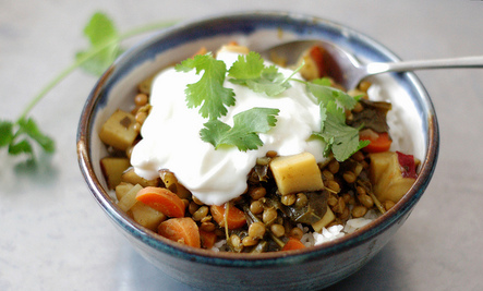 Curried Lentil & Sweet Potato Stew