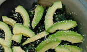 Warm Kale Salad with Tahini Ginger Dressing & Avocado